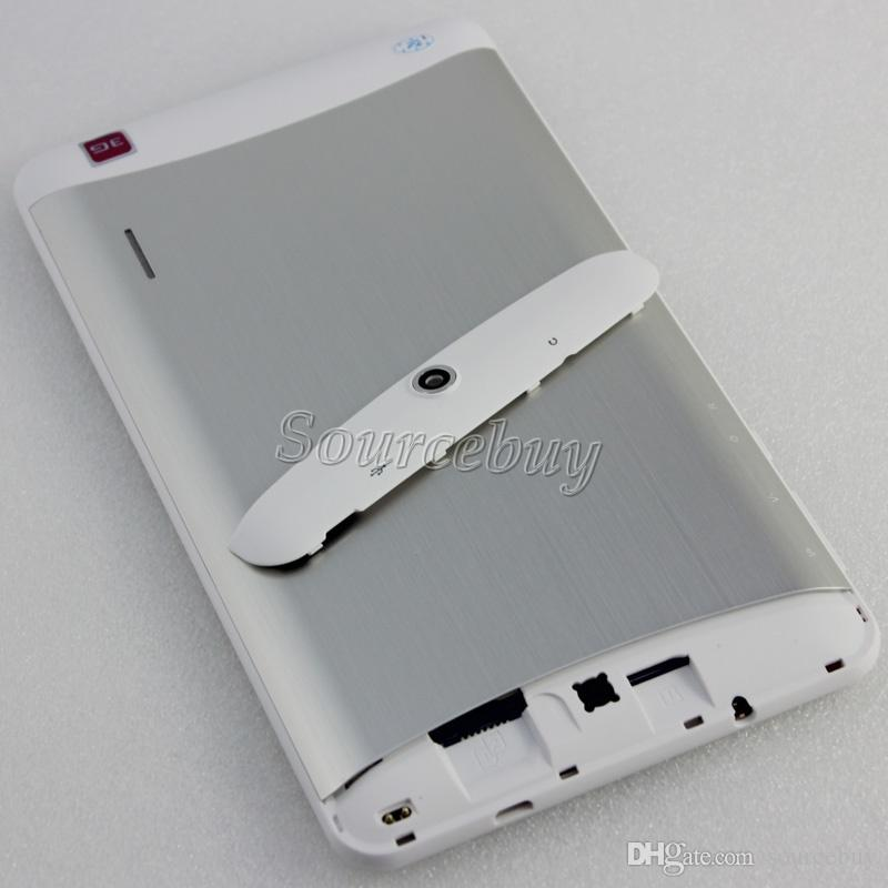 مكالمة هاتفية الكمبيوتر اللوحي MTK6572 ثنائي النواة 7 بوصة 3G WCDMA مقفلة دعم WIFI بلوتوث GPS FMradio المزدوج سيم Phablet الروبوت 4.2 1024 * 600