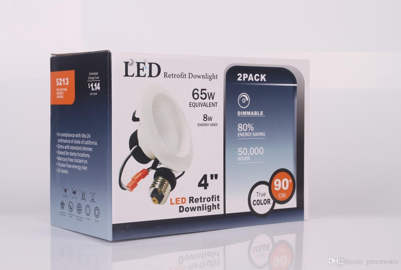 Certificado americano de Downlight do UL do padrão dimmmable Downlight de alumínio de 4 polegadas do downlight Dimmable do diodo emissor de luz do downlight de Triac 8W