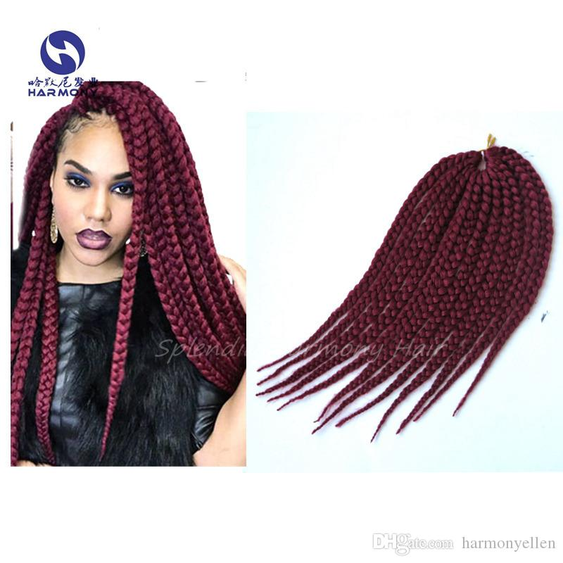 2018 high quality synthetic hair extension burgundy color 12inch 2018 high quality synthetic hair extension burgundy color 12inch box crochet braid syntheticfreetress box braiding hair from harmonyellen 432 dhgate pmusecretfo Gallery