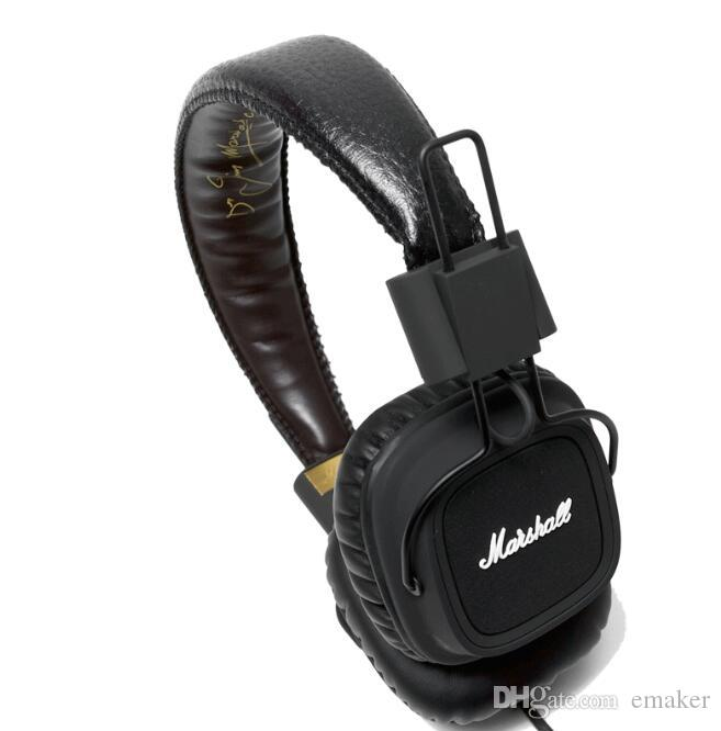 Auriculares genuinos Marshall Major con micrófono Deep Bass DJ Auriculares Hi-Fi Auriculares HiFi Auriculares profesionales DJ Monitor