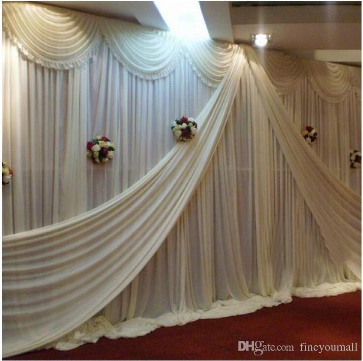 Cadre de support de mariage cadre avec tiges extensibles Tuyau en acier inoxydable Gaze Rideau Stent EventParty Décoration 3 * 3 M 3 * 6 M 4 * 8 M Disponible