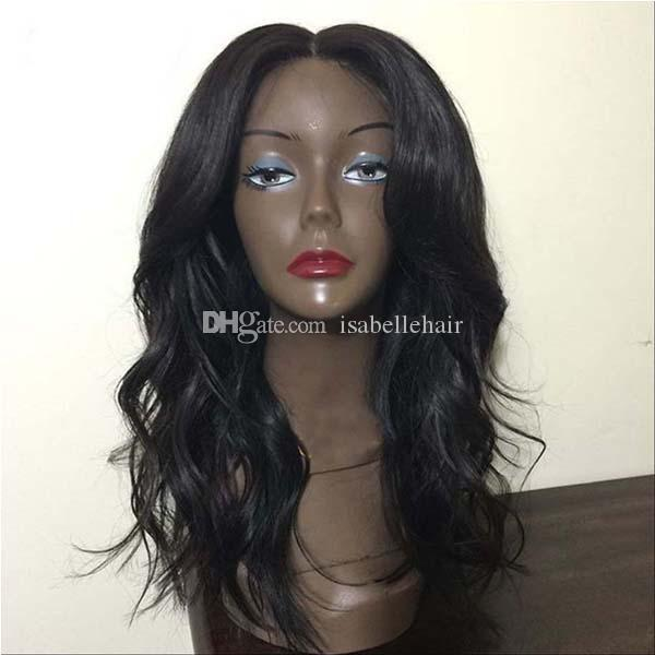 Natural Wave Lace Front Human Hair Wigs Unprocessed Brazilian Full Lace Wig With Baby Hair 8A Top Quality Lacefront Wigs For Black Women