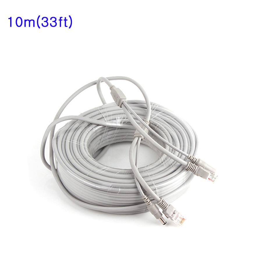 2018 10m 33ft Cctv Network Cable Rj45 With 12v Dc Power 21x5 Ethernet Wiring Diagram 21x55mm Cat5 5e Extension For Ip Camera Nvr From Winnervisiononline