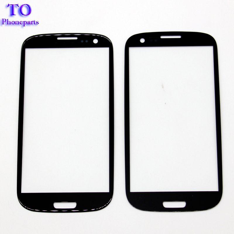 100 adet Yüksek Kalite Yedek LCD Dokunmatik Ön Dokunmatik Ekran Cam Dış Lens Samsung s3 s4 S5 s6 s7
