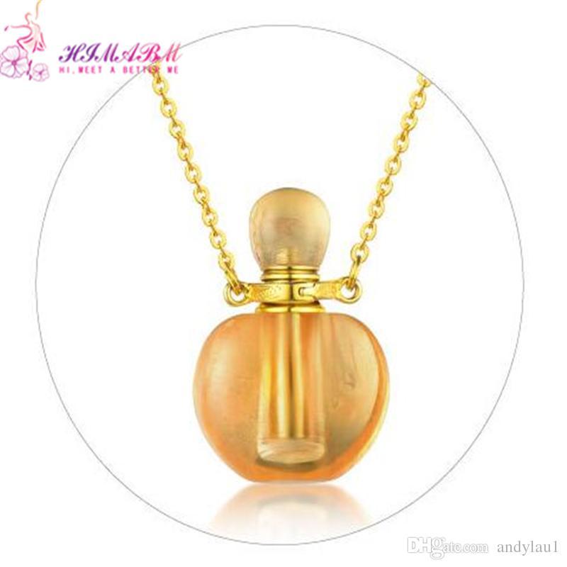 HIMABM Natural Topaz Perfume Bottle Scent-bottle Essential Oil Bottle Can volumetric flask Birthday