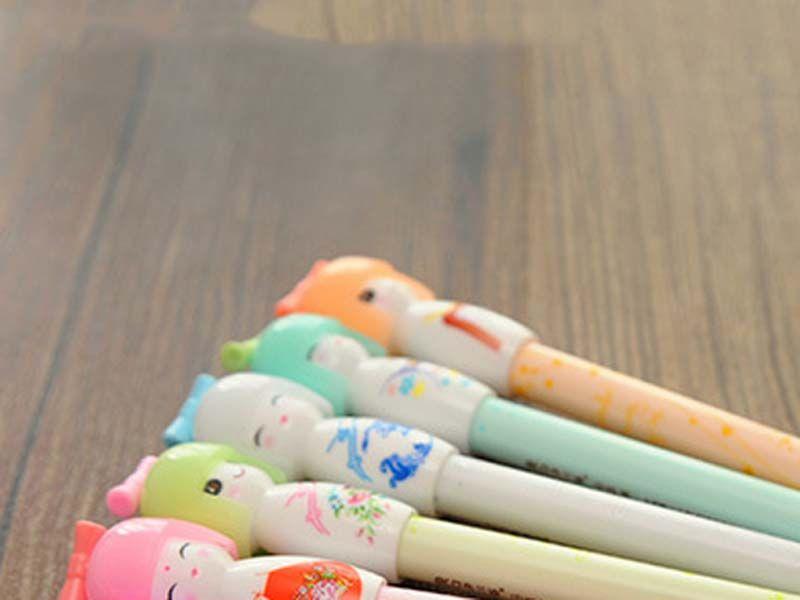 2017 calda! Kimono giapponese Doll Girl Gel Penna Scrivere Firmare scuola cancelleria del regalo creativo di forniture ufficio