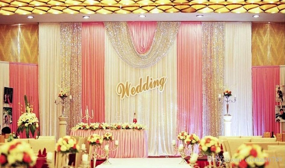 3m 6m Wedding Backdrop Valance Swag Party Background Cloth