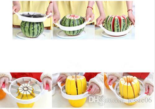 Wassermelone Cutter Messer Cantaloupe Slicer Corer Splitter Edelstahl Obst Teiler Küche Dining Bar Praktische Gadgets Werkzeuge