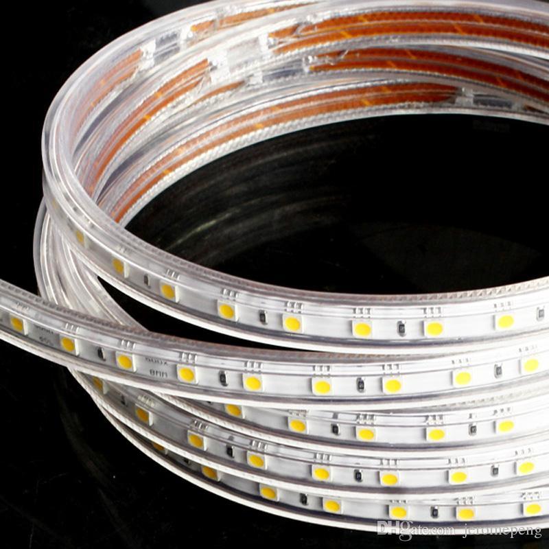50M IP67 110V 120V 220V 230V SMD5050 60LED / M RGBカラフルなLEDクリスマス照明のためのフレキシブルストリップライトFedEx