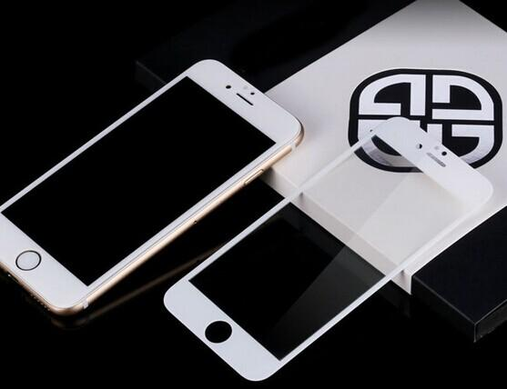 """2016 Original Full Cover 4.7"""" 2.5D Curved Edge Titanium Protective Film Tempered Glass Screen Protector for iPhone 6 6s"""