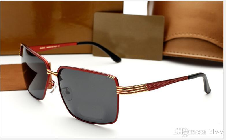 dc8442e27b4 2019 Wholesale 2017 Hot Fashion Brand Men S Polarized Sunglasses Glasses  Driving Mirror 5005 From Hlwy