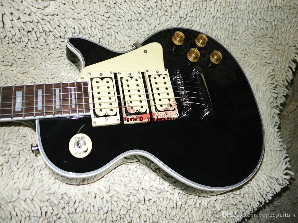 Il migliore OEM di nuovo arrivo di Ace Frehley della chitarra elettrica su ordinazione nera di alta qualità disponibile