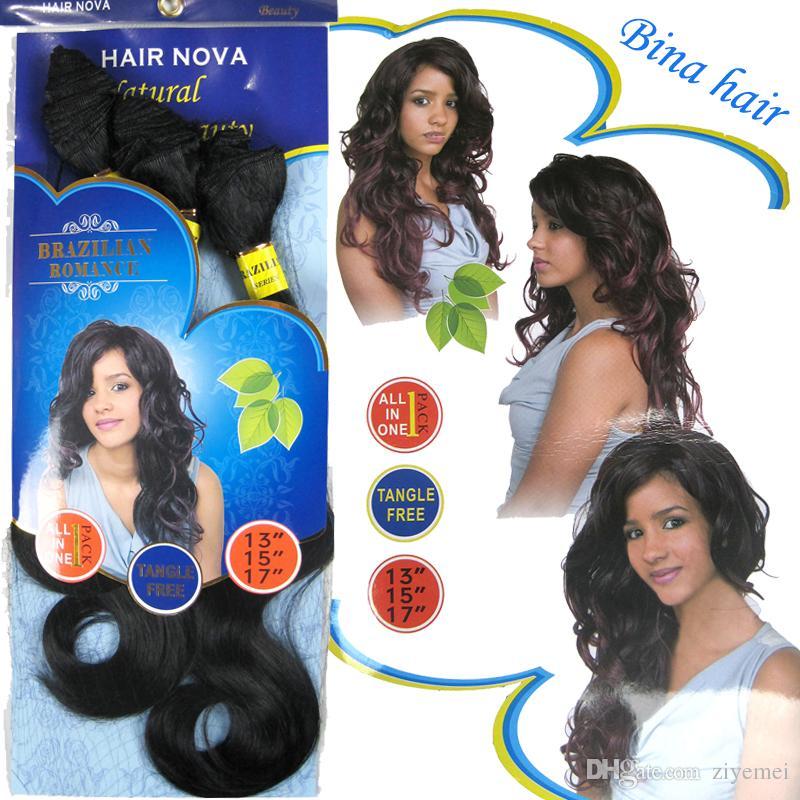 2018 Brazilian Romance Hair Weaves 100 High Temperature Resistant