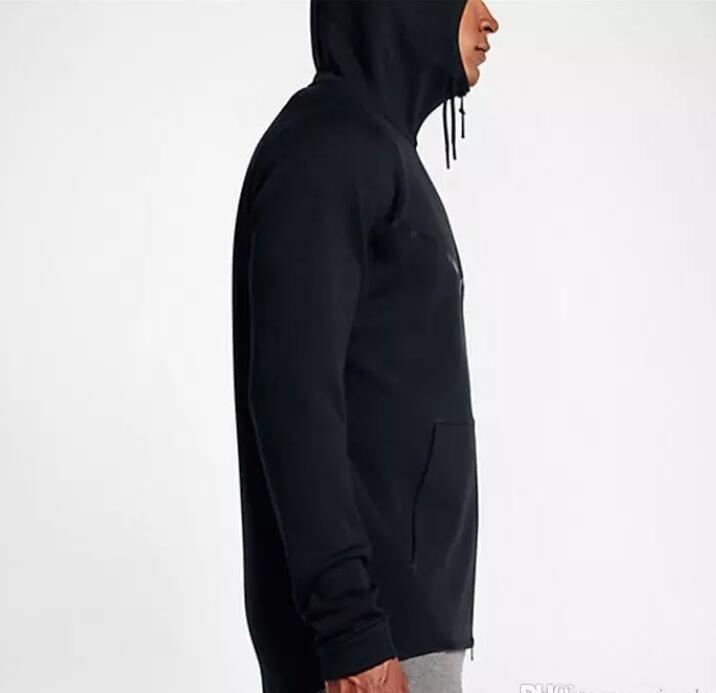 2017 nouvel automne hiver grande taille MEN'S TECH HOODIE SPORTSWEAR POLAIRE WINDRUNNEOR veste de sport de loisirs de la mode en cours d'exécution manteau de veste de fitness