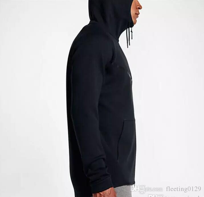 2017 новая осень зима Большой размер Мужская спортивная одежда TECH FLEECE WINDRUNNER с капюшоном модная спортивная куртка работает фитнес куртка пальто