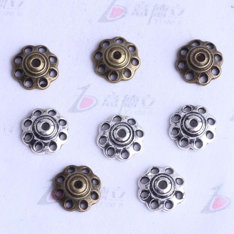 fleur torus Spacer perle charme / 8.1 * 3.2mm argent antique / bronze zinc alliage de zinc pour bricolage pendentif bijoux fabrication accessoires 2552