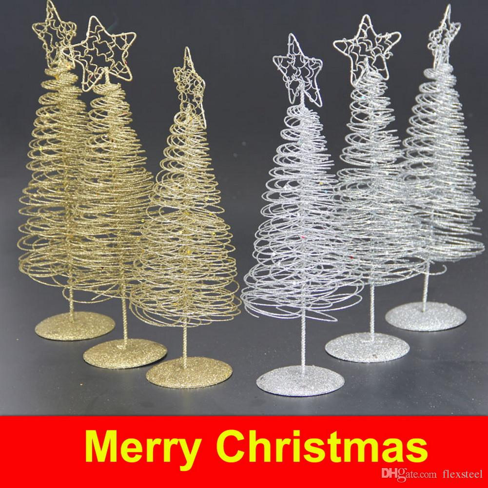 Christmas Iron Wire Tree Five Pointed Star Home Garden Ornaments ...