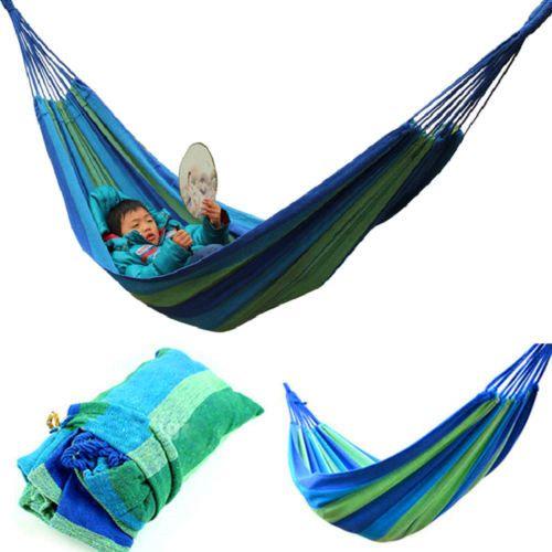 canvas hammock swing outdoor furniture colorful camping hammock