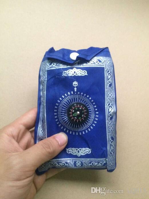 islâmico viagem mat bolso oração com bússola oração muçulmana tapete mesmos que a imagem