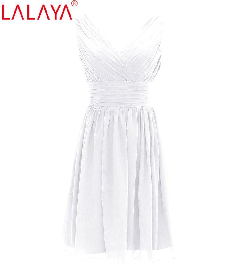 Vestido de dama de honor barato de gasa corta plisada vestido de fiesta de la boda de la longitud de la rodilla de menta 2016 en orden mezclada 50