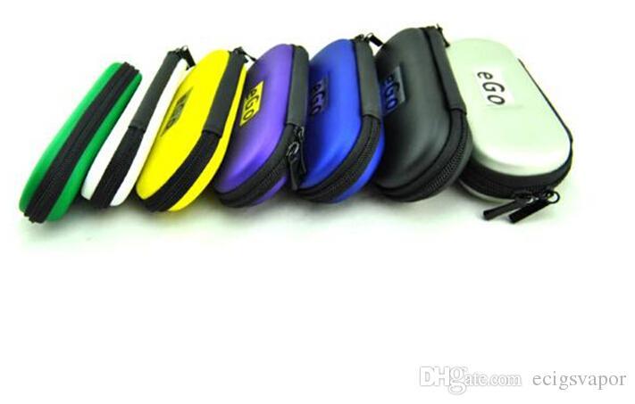 eGo cremallera funda de cuero bolsa para cigarrillos electrónicos ugo evod vision spinner 2 kits de arranque coloridos cremallera L / M / S talla DHL