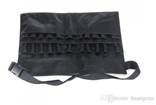 Wholesale-2015 New Professional Cosmetic Makeup Brush PVC Apron Bag Artist Belt Strap Protable Make up Bag Holder