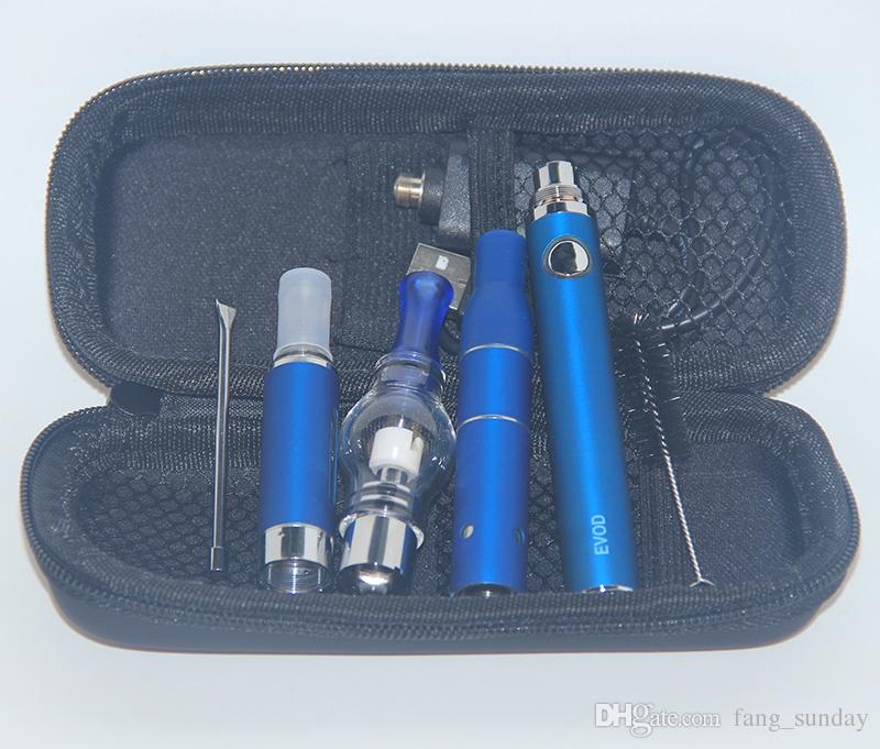 510 Electric Dab Wax Oil 3 in 1 Vaporizer Pen Cartridge All in one Dry Herb E liquid EVOD Vaping 3in1 Vapes Starter Kit