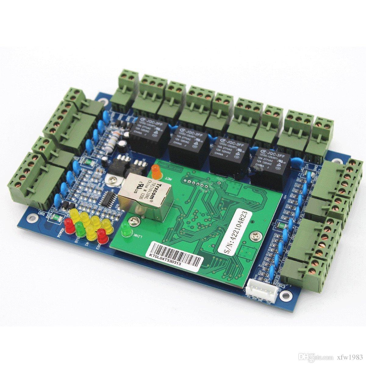 Painel da placa de controle do acesso das portas de TCP / IP 4 com 220V à CC Fonte da fonte de alimentação das cores do TCP / IP 4 preto 30-60W Caixa para o sistema de controlo de acessos