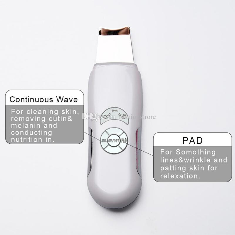 Hot portable Ultrasound skin scrubber Ultrasonic Pore Cleaner Facial Face Cleanser Skin Care High Frequency Vibration Deep Clean Massage