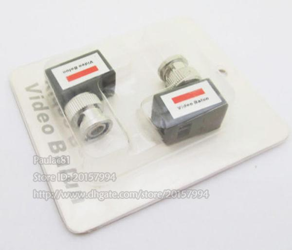 High Quality 90 Degree Angled Camera CCTV BNC Video Balun UTP Transceiver Connector Adapter//