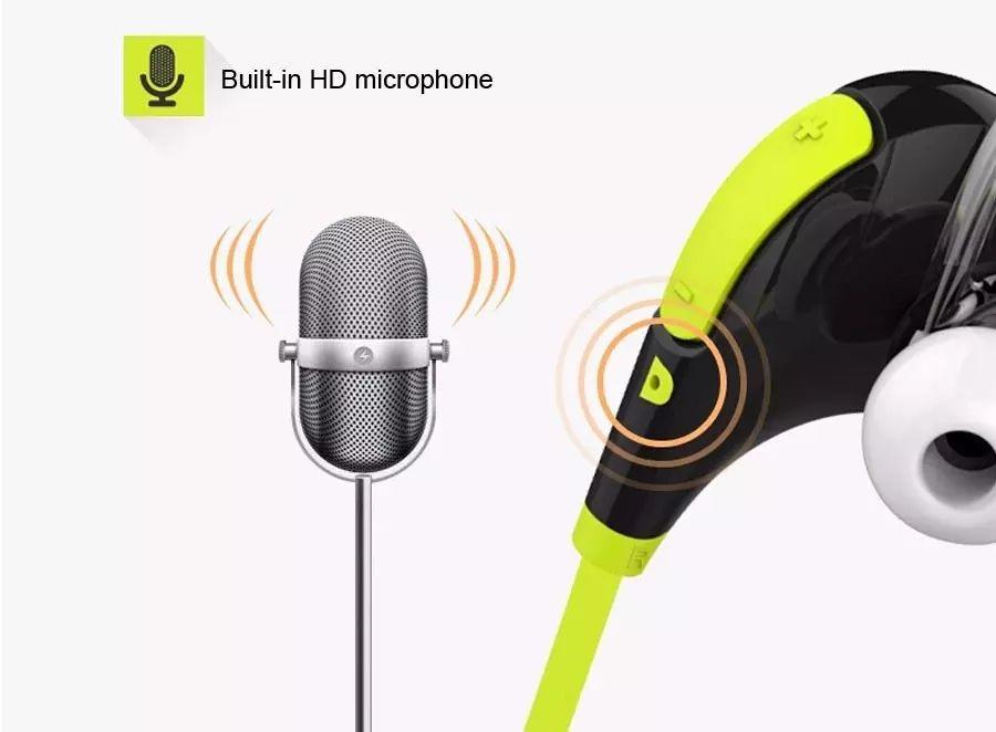 QY7 سماعات بلوتوث لاسلكية للرياضة Heandphone سماعات تشغيل لاجهزة ايفون 5s 6 بلس سامسونج جالاكسي S4 S5 S6 ادج نوت 5