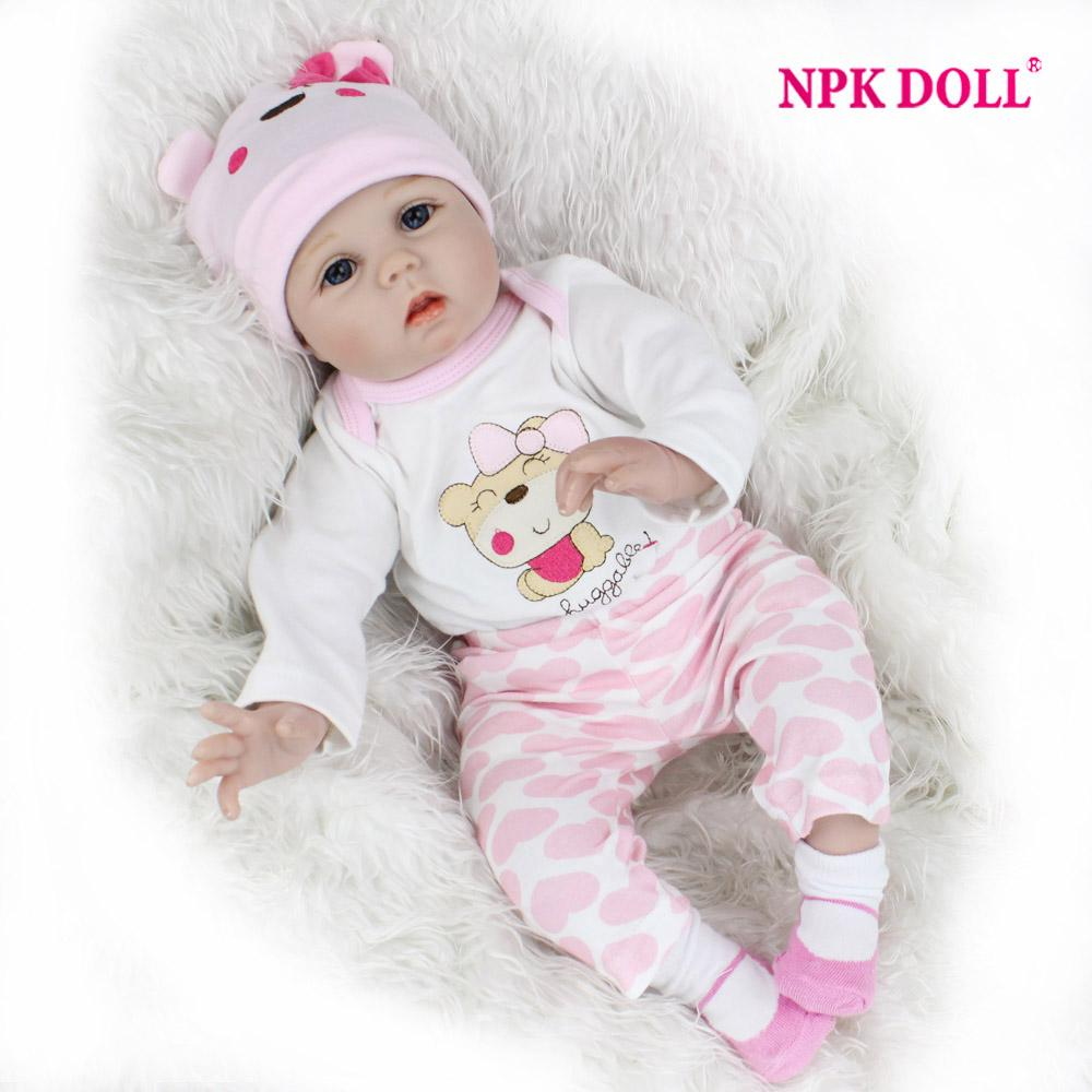 0be0d7b32467 55cm Soft Silicone Doll Reborn Baby 22 Toy For Girls Newborn Girl Baby  Birthday Gift For Child Bedtime Early Education Vinyl Baby Dolls Car For 18  Inch Doll ...