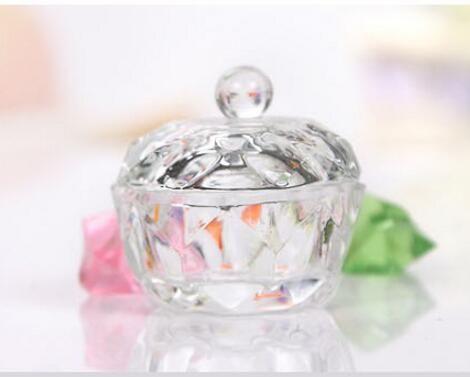 네일 아트 아크릴 크리스탈 유리 Dappen 요리 그릇 컵 모자 액체 반짝이 가루 캐비어 둥근