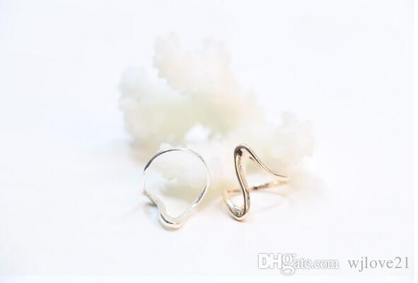 Fashion Rose Gold plating silver plating ring wave warp rings for women, Gifts for women Wholesale