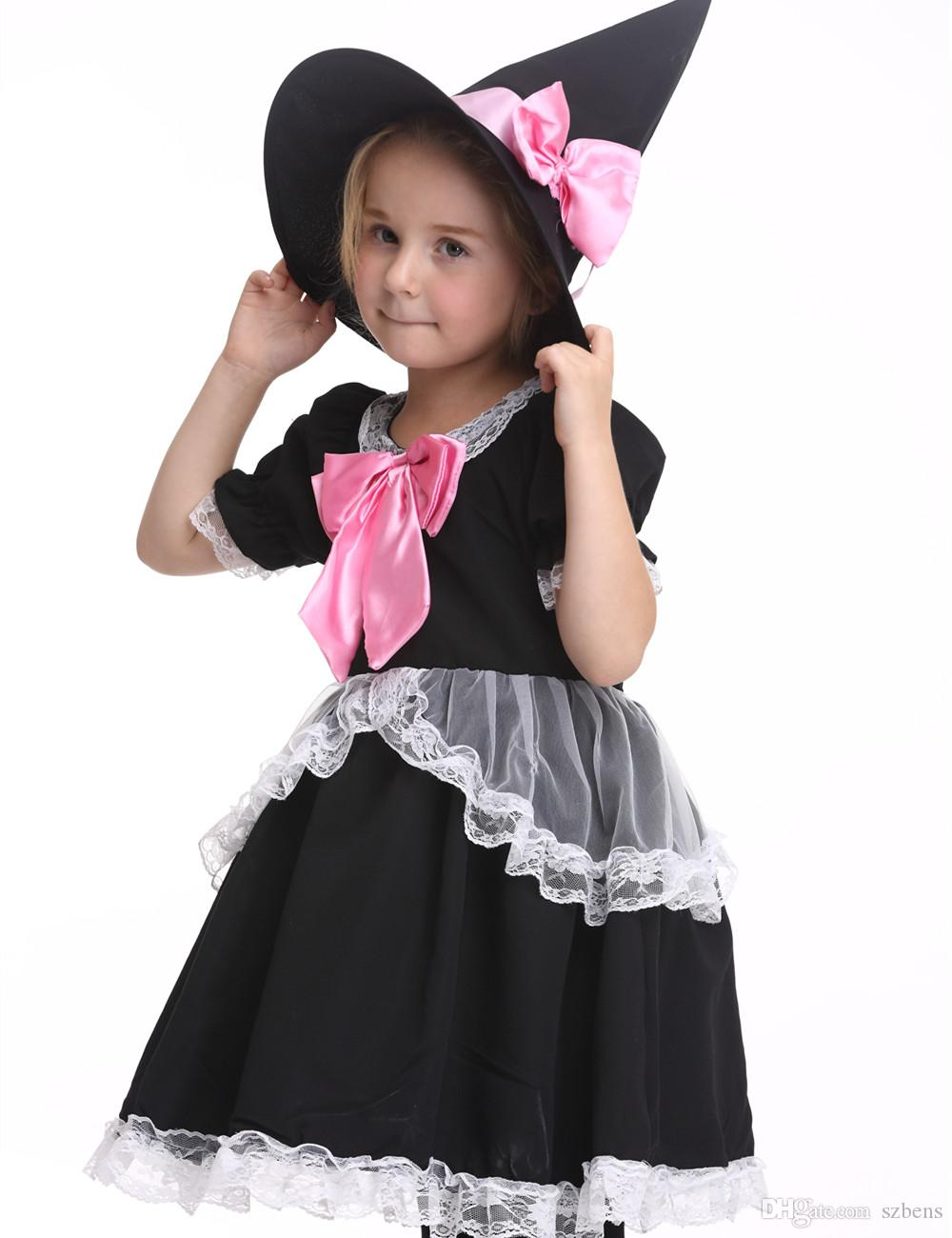 Children Girls Witch Costume Halloween Costume For Kids Stage ...