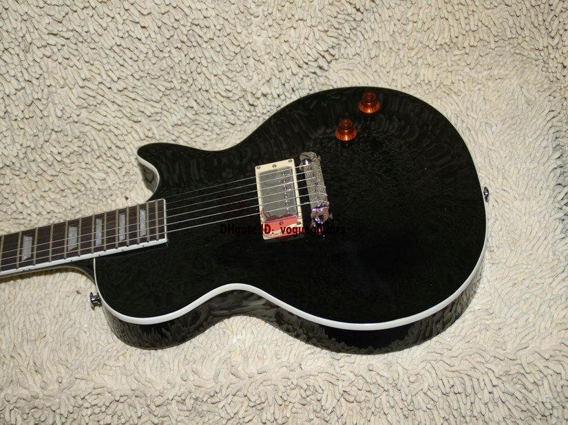 O recolhimento preto feito sob encomenda o mais novo da guitarra elétrica um com o OEM do caso de China