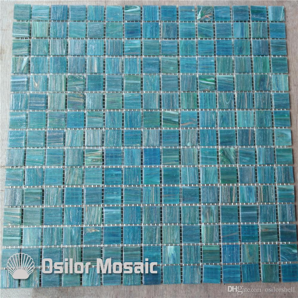 2017 glass mosaic tile for bathroom and kitchen swimming pool wall