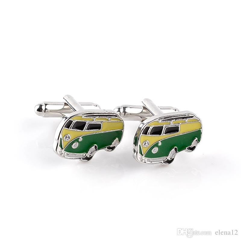 Otobüs Kol Düğmeleri mavi renk barış araba tasarım hotsale bakır malzeme kol düğmeleri Fransız moda kol düğmeleri araba kol düğmeleri 170628