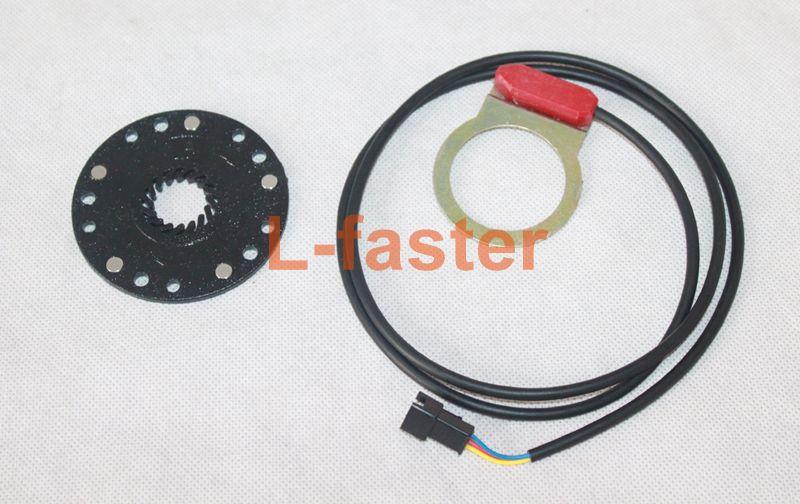 250W Brushless Hub Motor Electric Bike Conversion Kit Electric Bicycle Rear Wheel Motor PAS Wuxing LCD Display Thumb Throttle