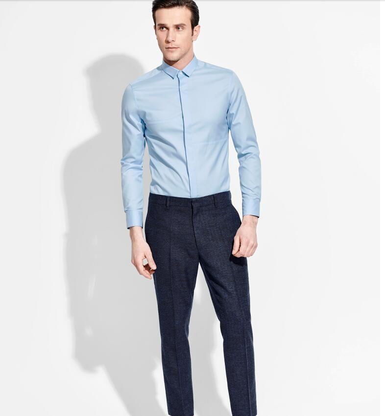 2017 Wholesale Classic Fashion Handsome Men Long Sleeve Shirt ...