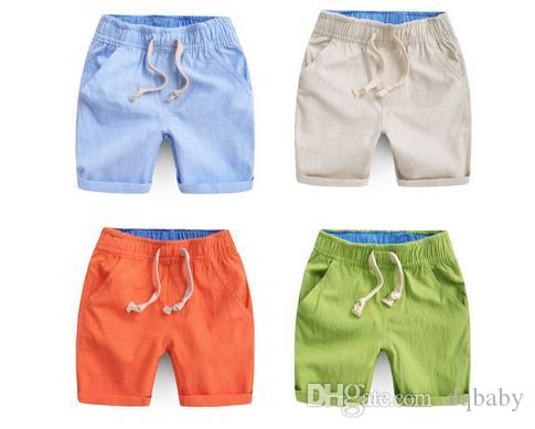 74db08dca 2016 Summer New Boys Pants Fashion Casual Cotton Children's Clothing Linen  Shorts Kids Baby Boy Shorts Yellow Beige Blue Green