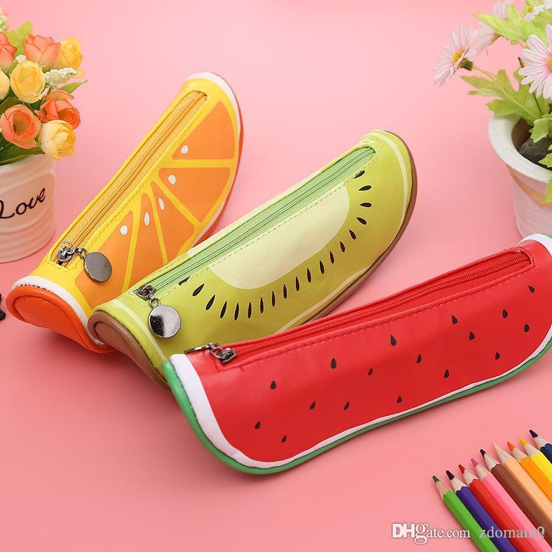 Fruit Style Cute School Pencil Case For