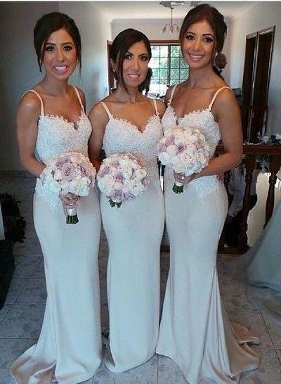 New Sweetheart Lace Bridesmaid Gown Navy Blue/Peach/Ivory/Champagne/Red/Silver/Yellow Lace Chiffon Bridesmaid Dresses