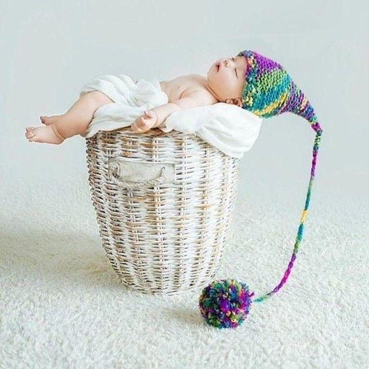 sombrero hecho punto sombrero de punto hecho a mano de la foto del bebé de  la foto del sombrero caliente del invierno para los apoyos de la ...