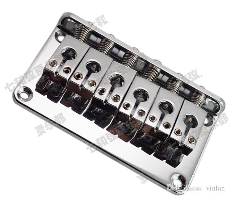 parti chitarra argento 6 Saddle Hardtail Bridge Top Load 76mm ponte chitarra elettrica Accessori strumenti musicali