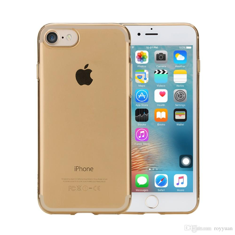 Rock for apple iPhone 7/7 plus TPU Silicone Case cover Clear Ultra Thin Back Cover for iPhone 7