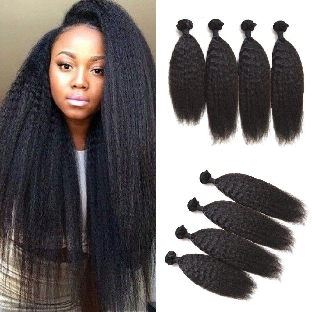 Mongolian Hair Weave Kinky Straight Unprocessed Virgin Hair