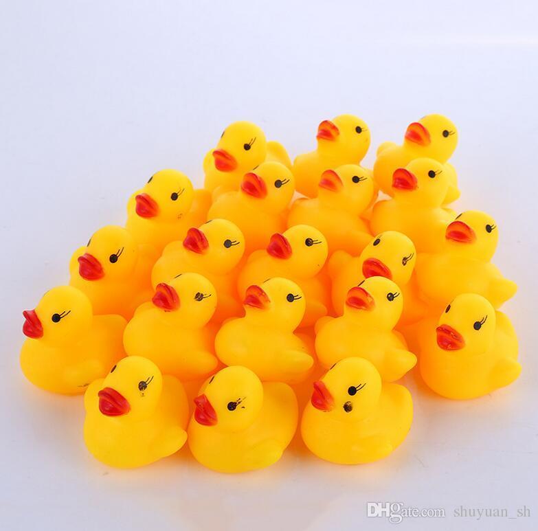 Freies Verschiffen / wholesale Minigelb Gummibadente mit dem sich hin- und herbewegenden Enten-Schwimmenpoolbaby-Spielzeuggeschenk