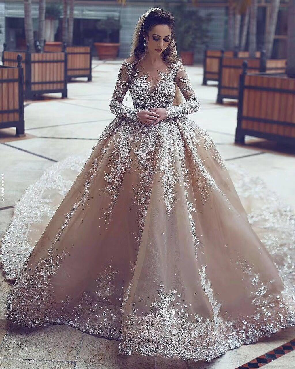 Großhandel Arabisch Dubai Kristalle Stark Bestickt Ballkleid ...