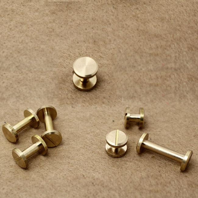 flat style fastener wallet bag screw brass screw belt Rivet diy handmade nail hardware part